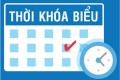 Thời khóa biểu tuần 25 HKII năm học 2019 – 2020
