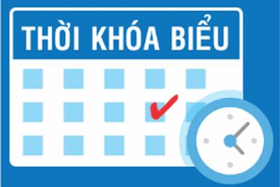 Thời khóa biểu tuần 38 học kỳ II năm học 2019 – 2020( Thực hiện từ ngày 15/06/2020)