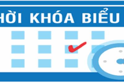 Thời khóa biểu tuần 03 HKI năm học 2019 – 2020