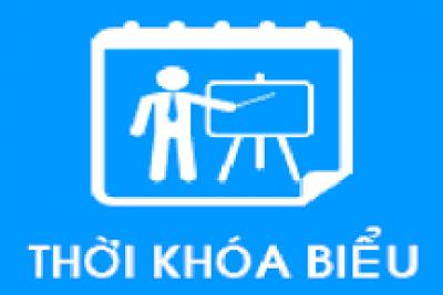 Thời khóa biểu tuần 22 HKII năm học 2017 – 2018